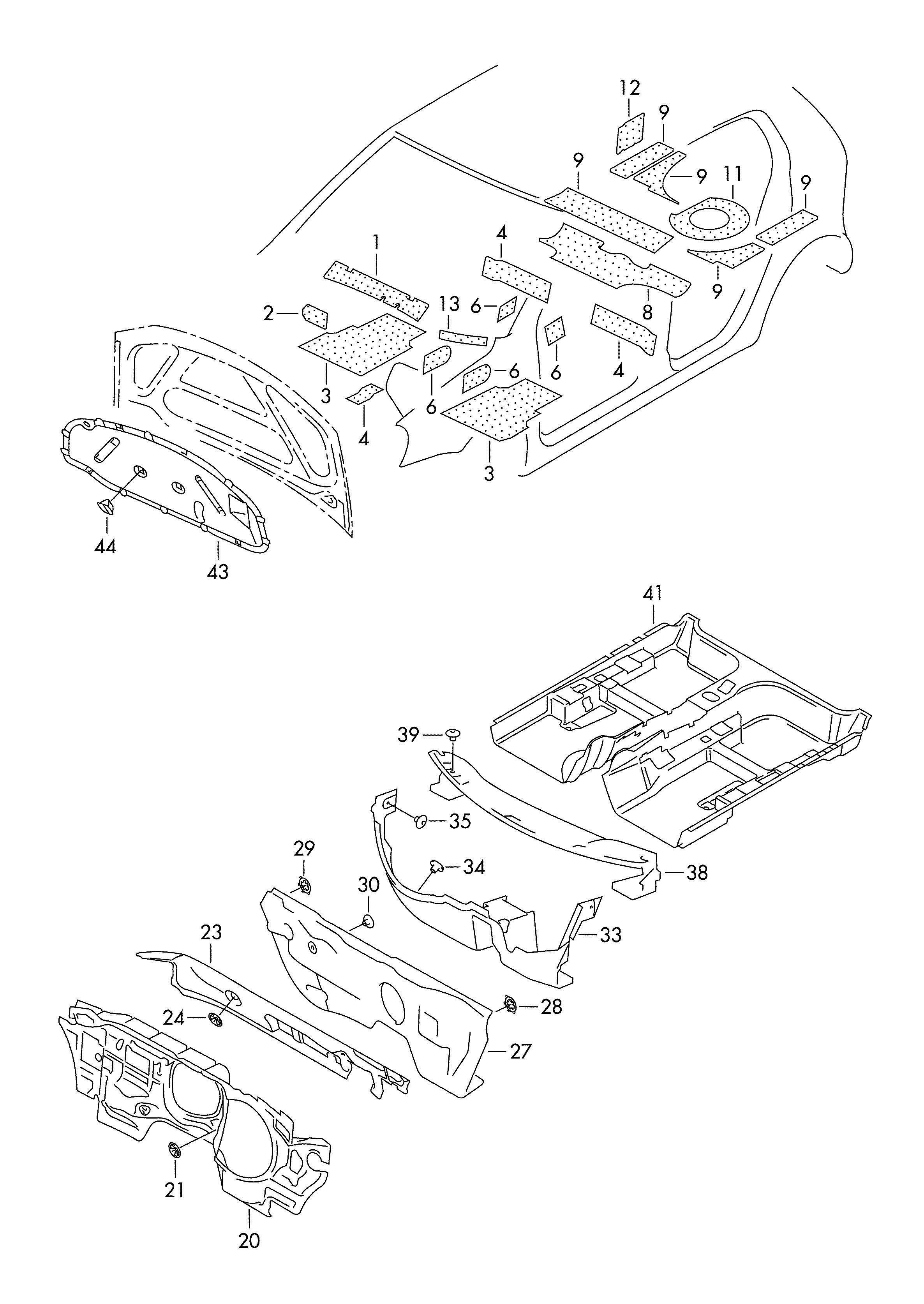 Volkswagen Gti Sound Absorber For Engine Lid