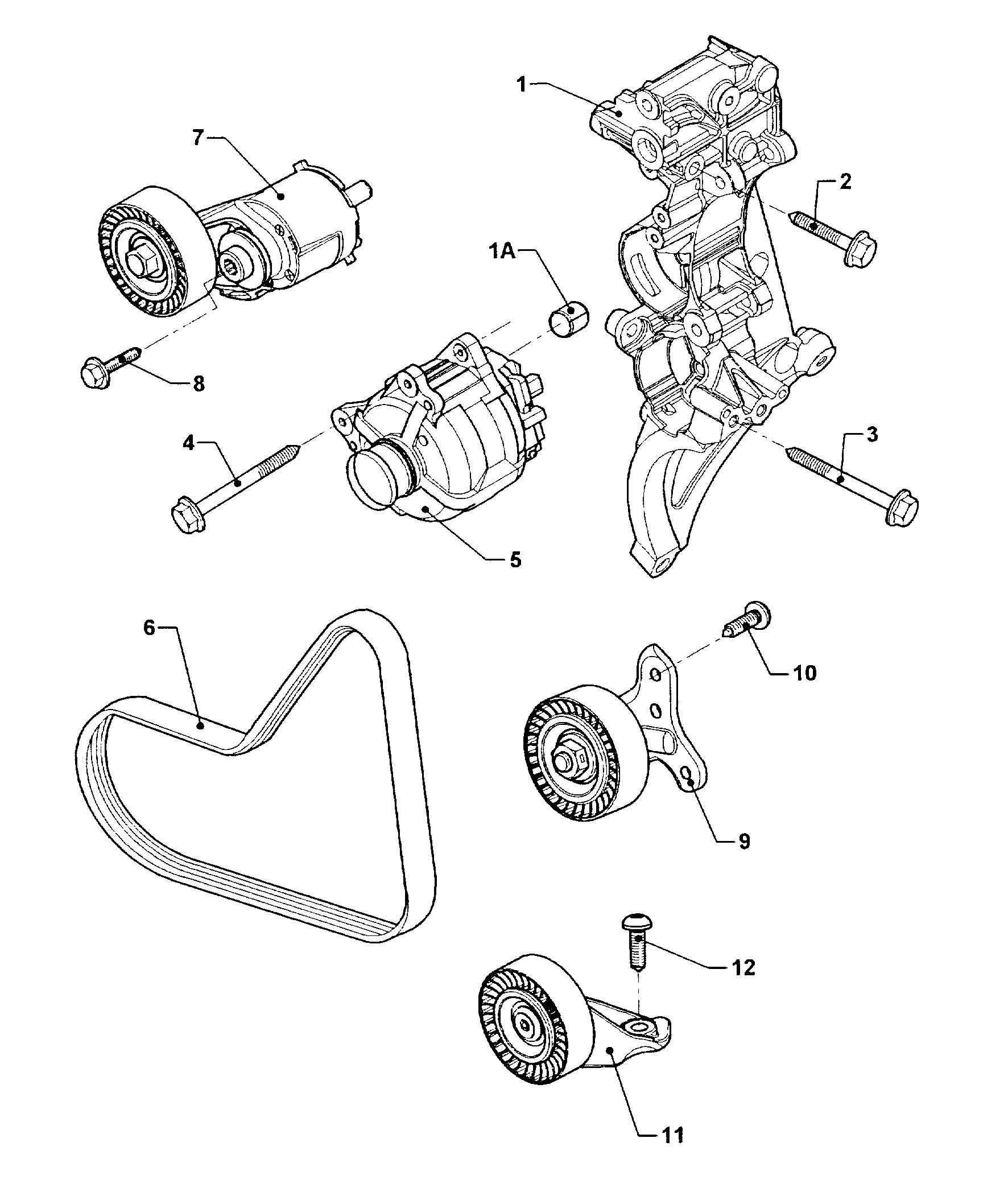 Volkswagen Jetta Variant Tensioning Element With Screw For