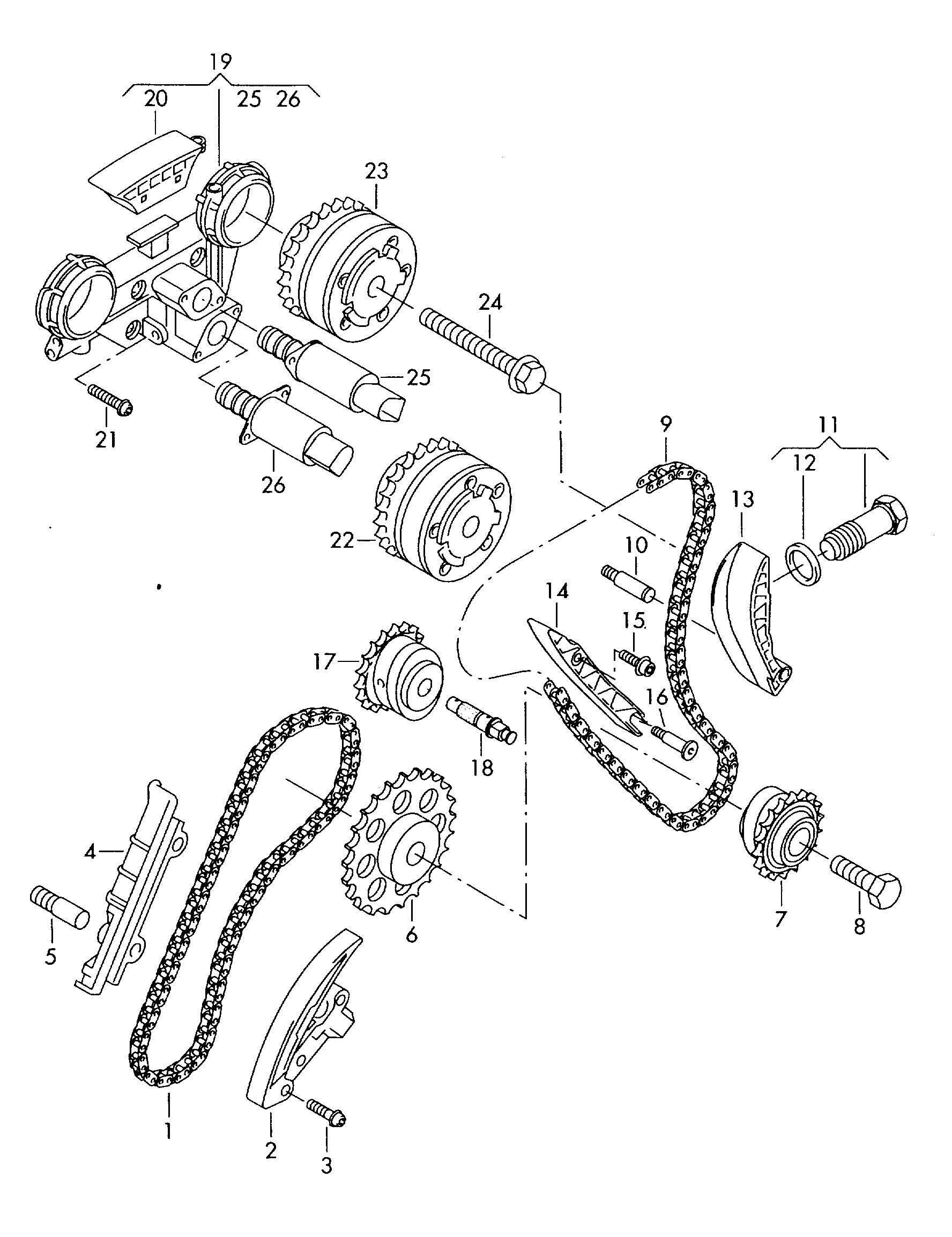 Volkswagen Touareg Camshaft Adjuster Unit