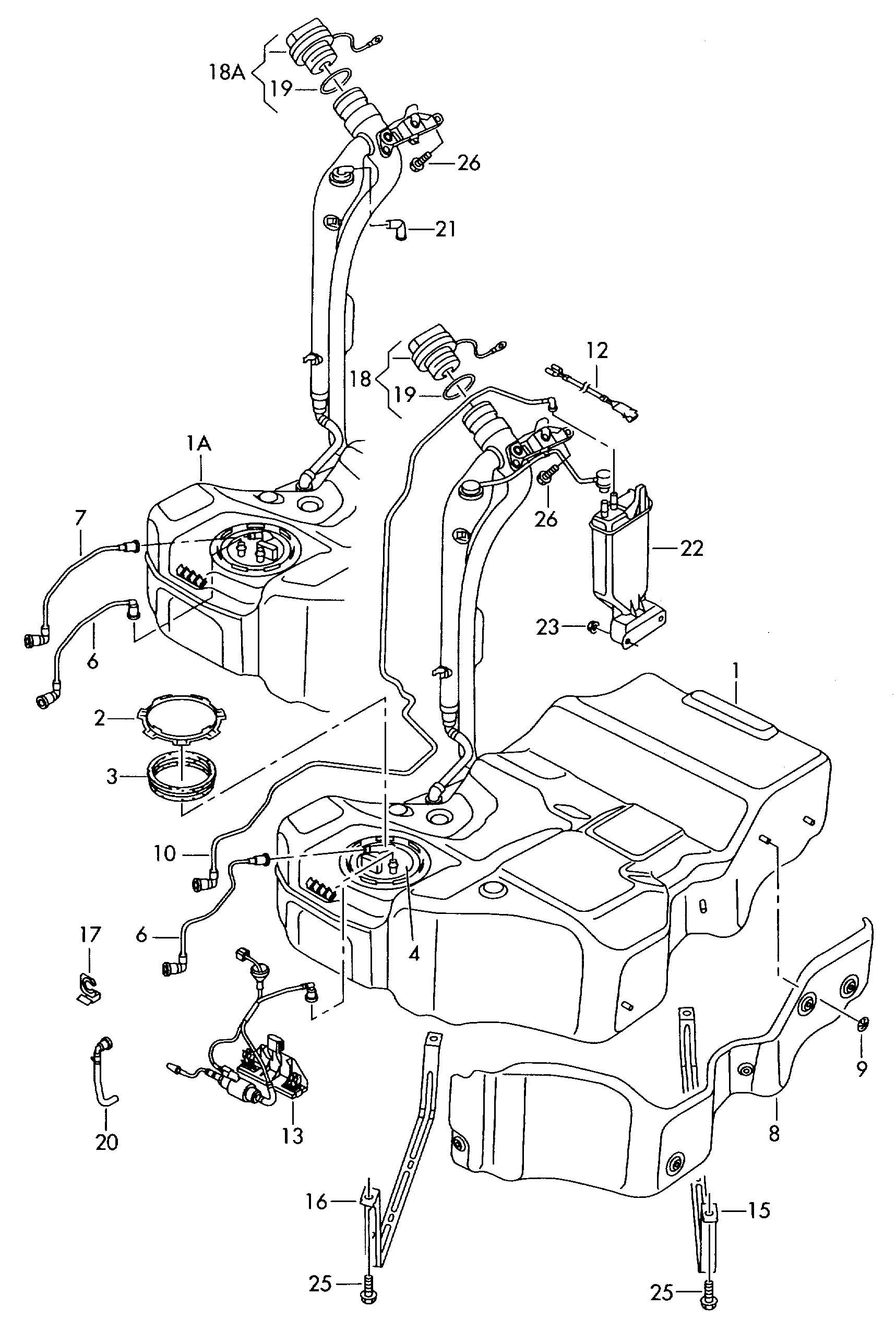 Volkswagen Passat Cc Fuel Tank Evaporative Emission Canister