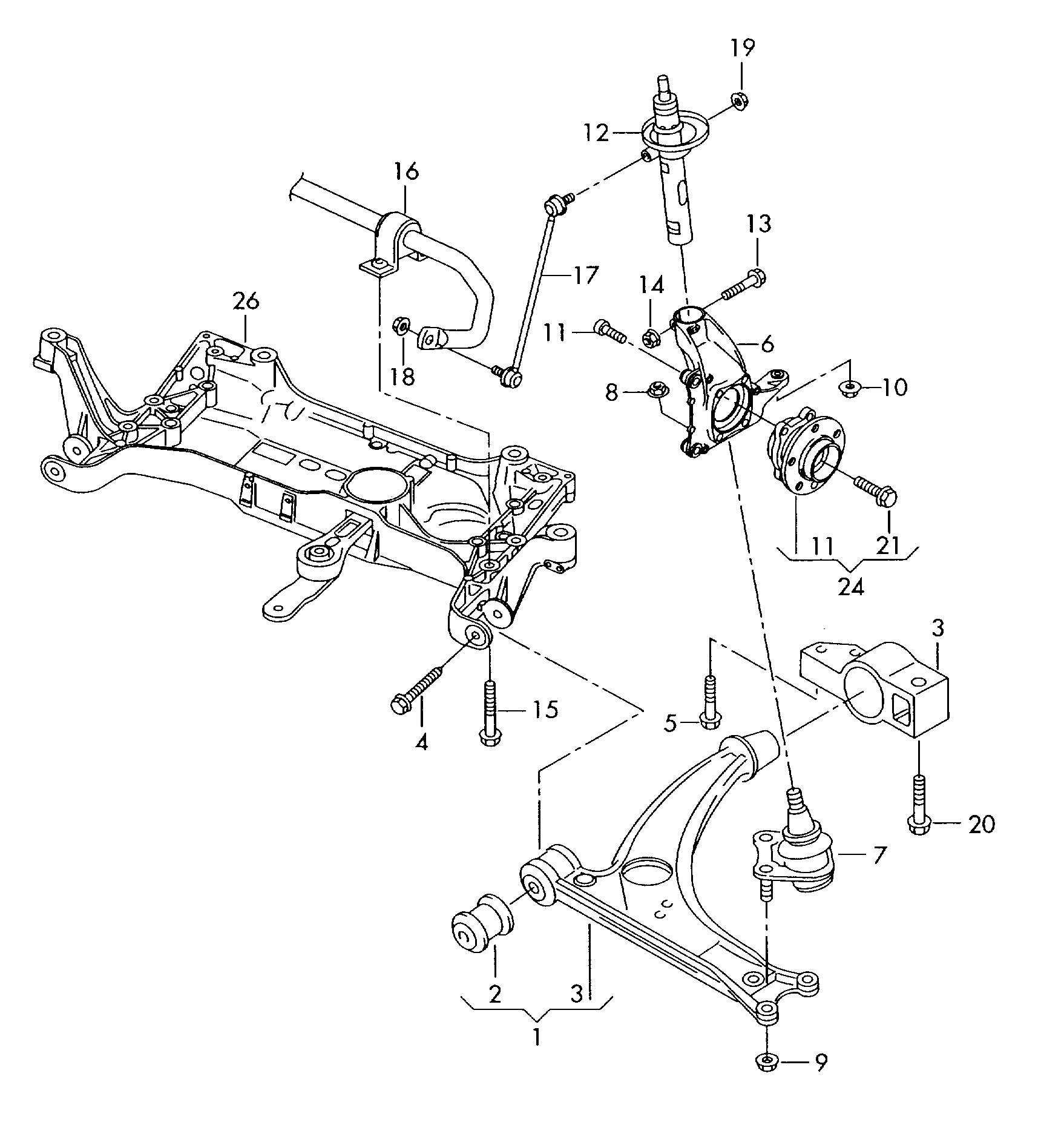 Volkswagen Passat Wheel Bearing With Mounting Parts Wheel