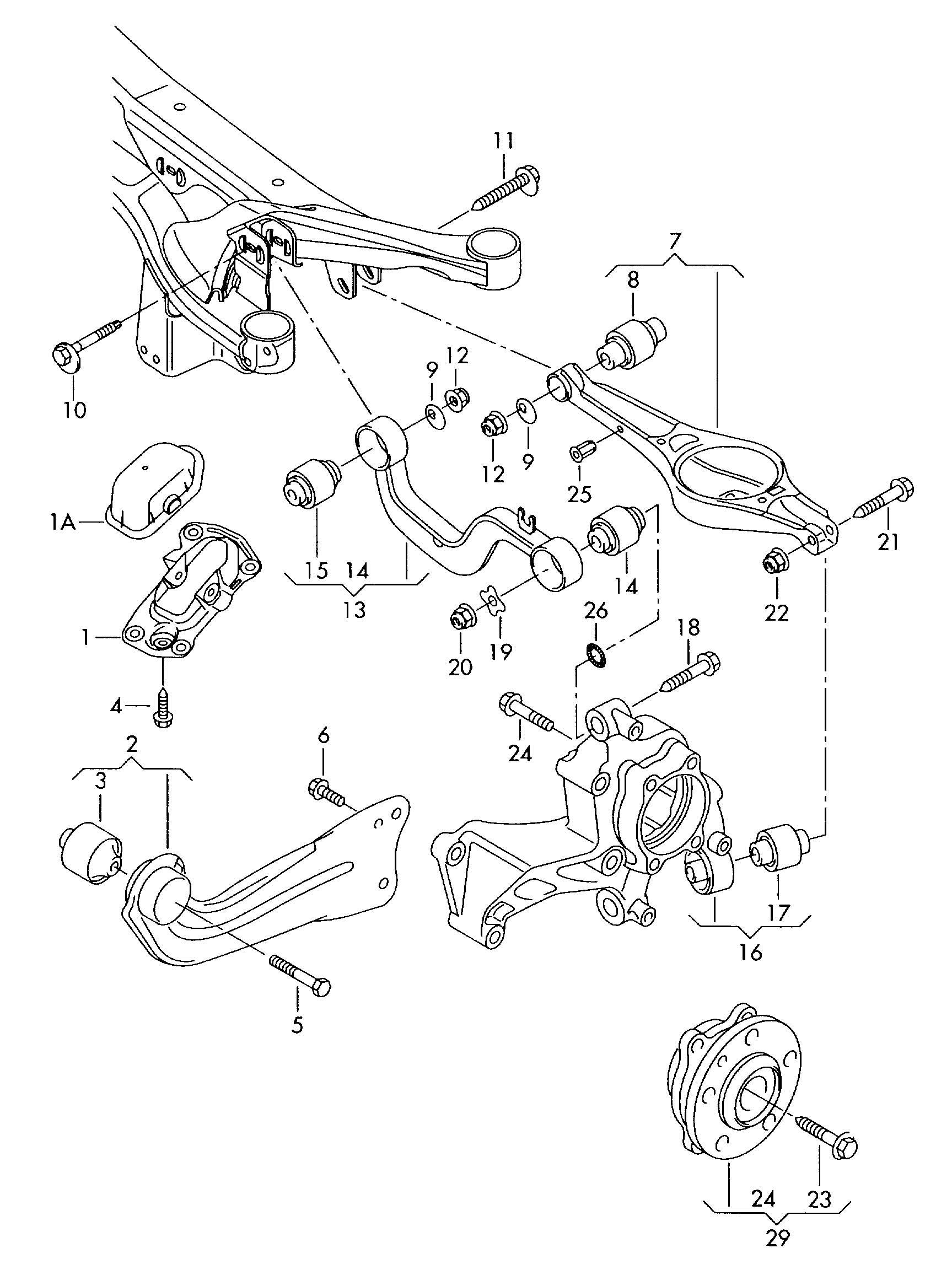 Volkswagen R32 Tie Rod Trailing Fwd