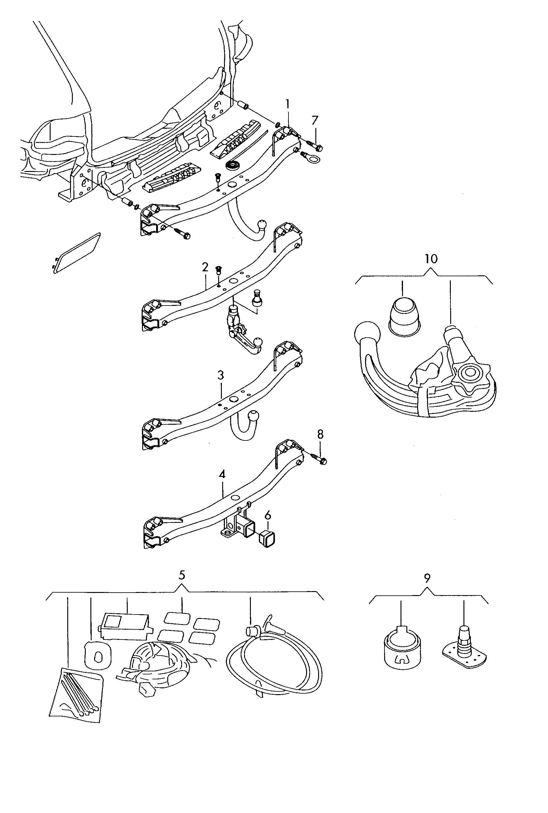 Volkswagen Tiguan Trailer Hitch Electrical Installation