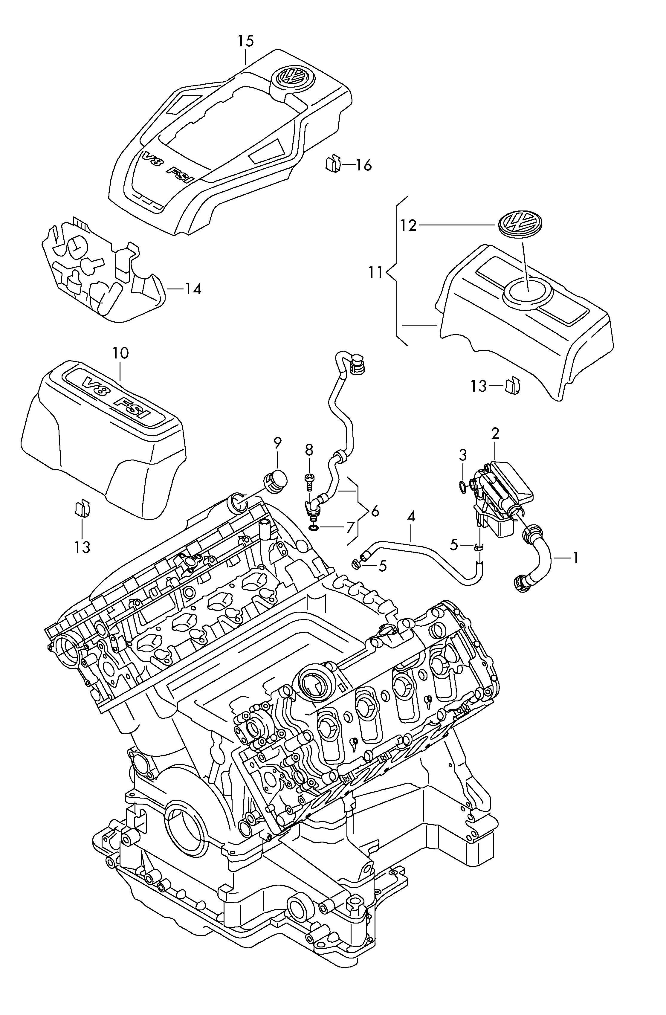 Volkswagen Touareg 3 6l Oil Separator