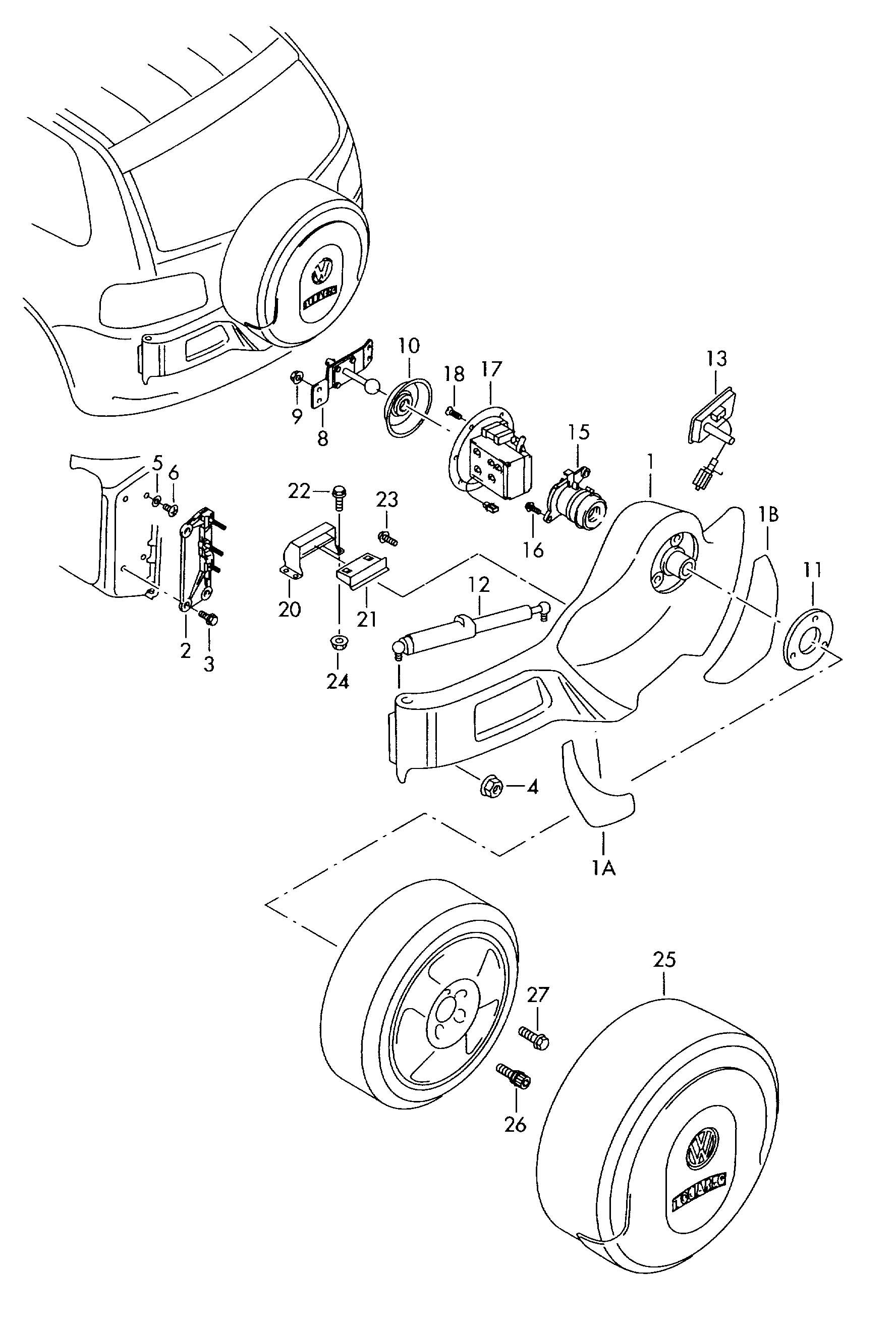 Volkswagen Touareg Lock