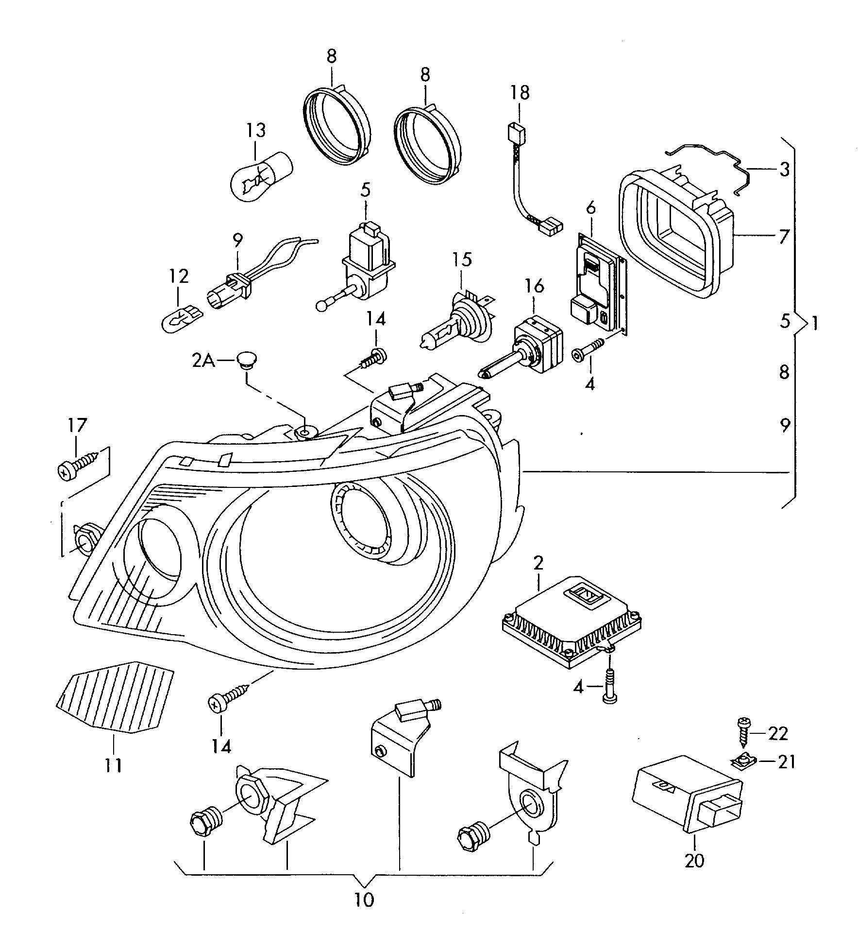Volkswagen Eos Ballast For Gas Discharge Lamp Control