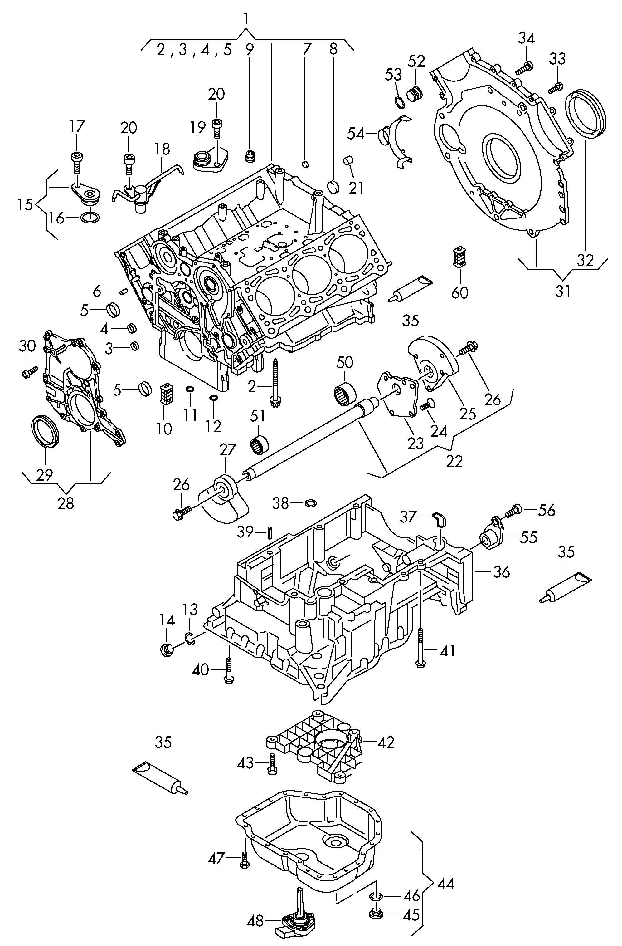 Volkswagen Touareg Plug Drain Plug Insert Screw Stop