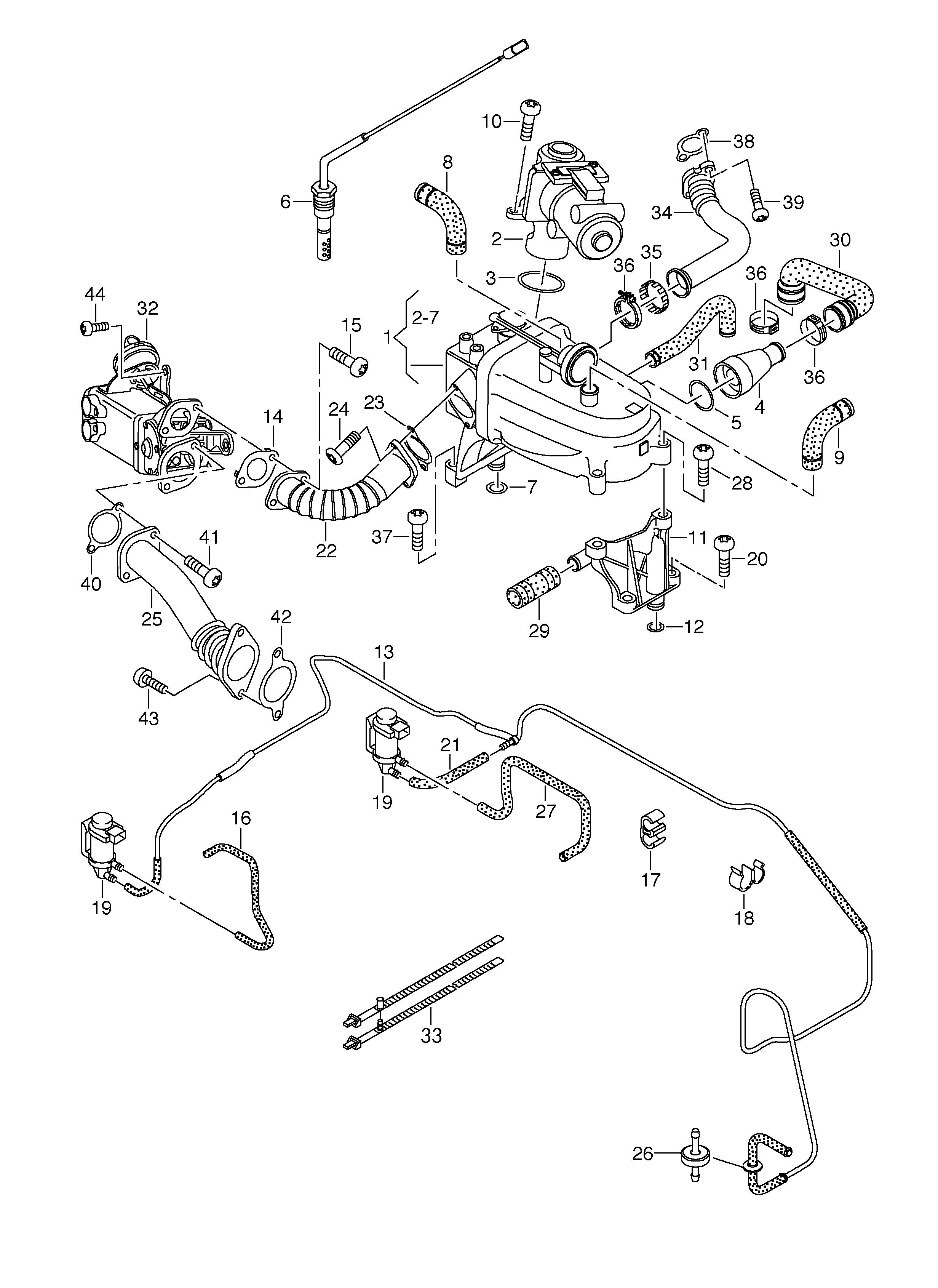Volkswagen Touareg Vacuum System Exhaust Recirculation 3 0l