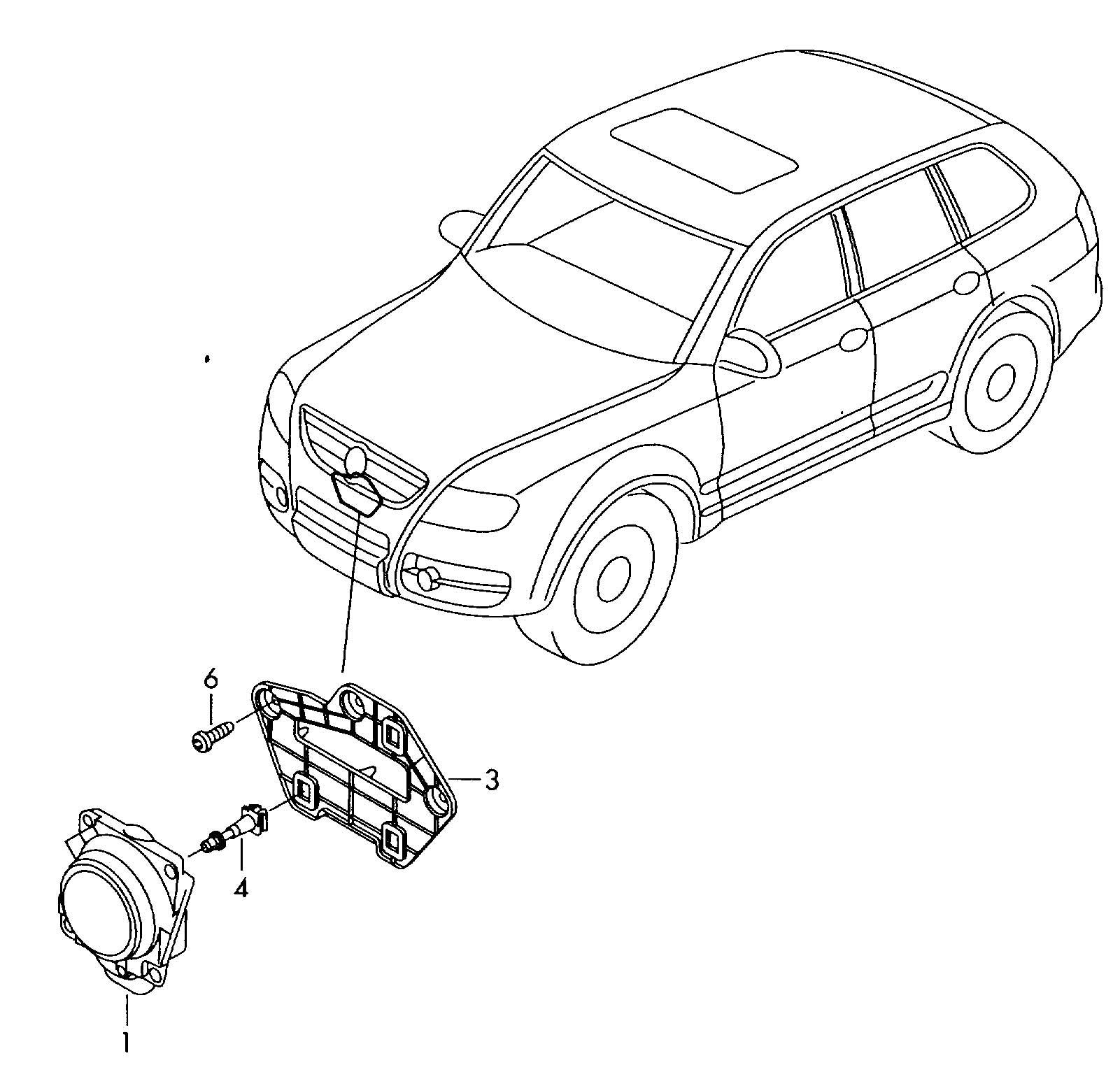 Volkswagen Touareg Radar Sensor Bracket Also Use