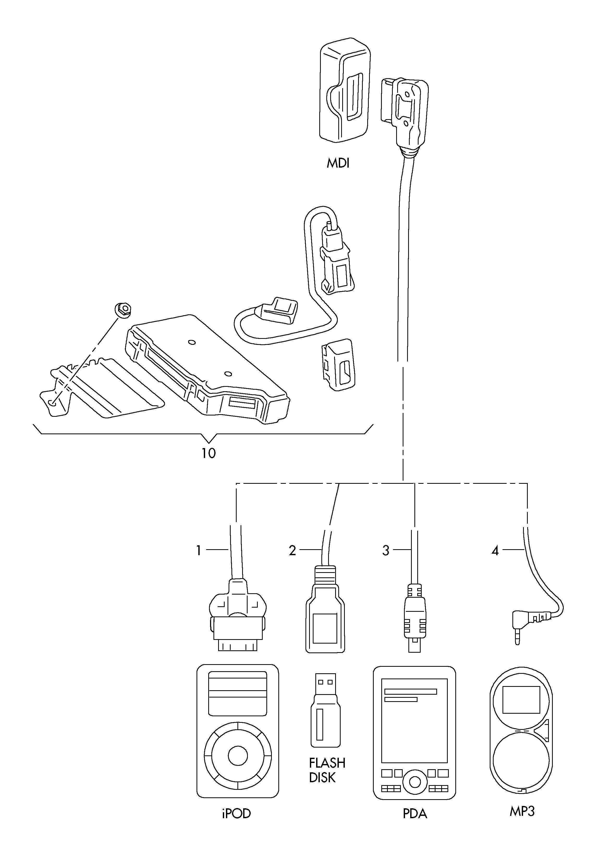 Volkswagen Jetta 2 5l 5 Cylinder Media Digital Interface