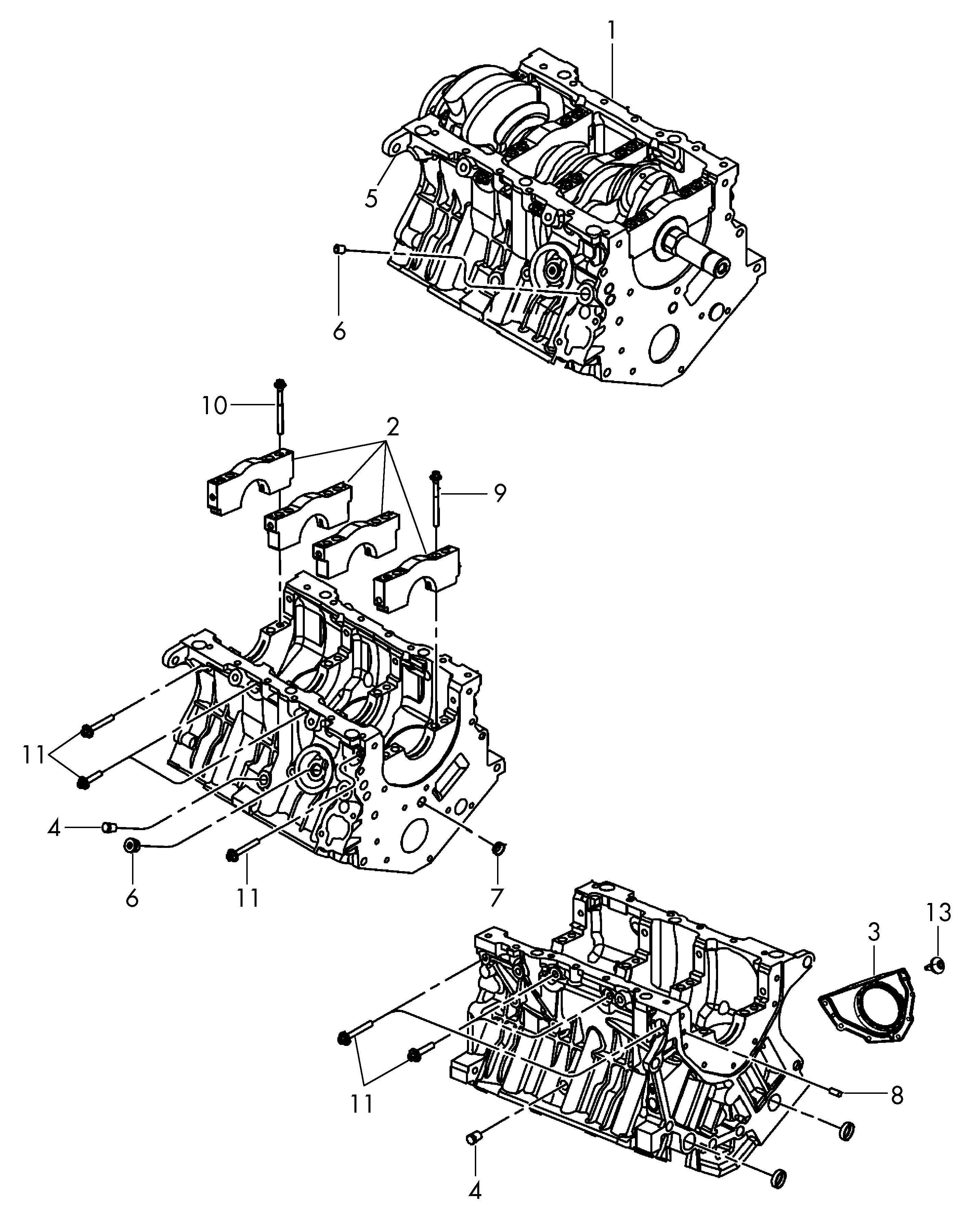 Volkswagen Routan 3 8l 6 Cylinder Short Engine