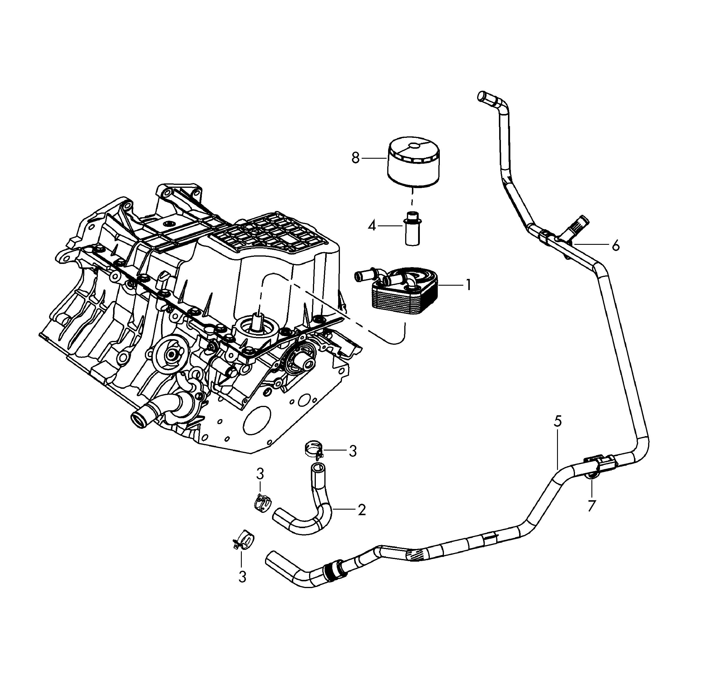 Volkswagen Routan Water Coolant Pipe With Water Hose