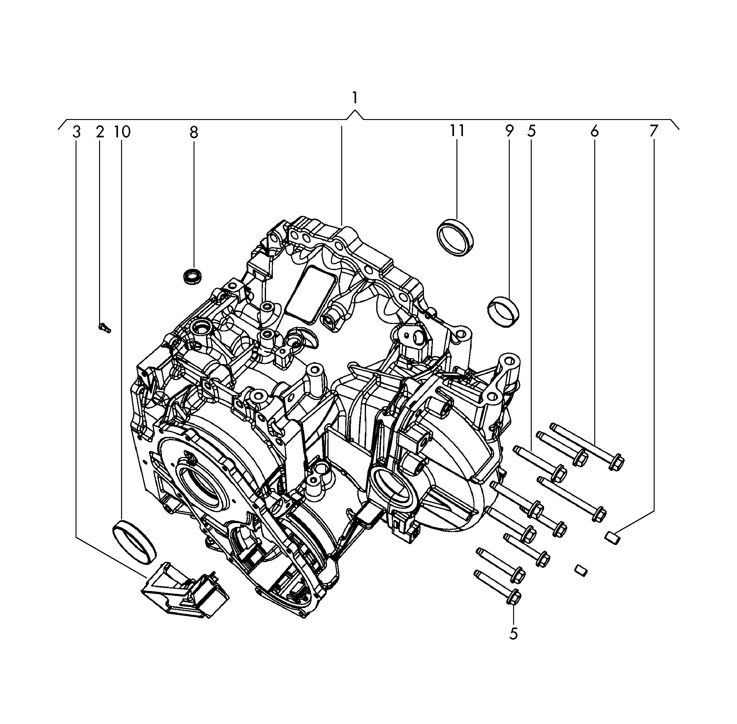 Volkswagen Routan Oil Deflector Transfer