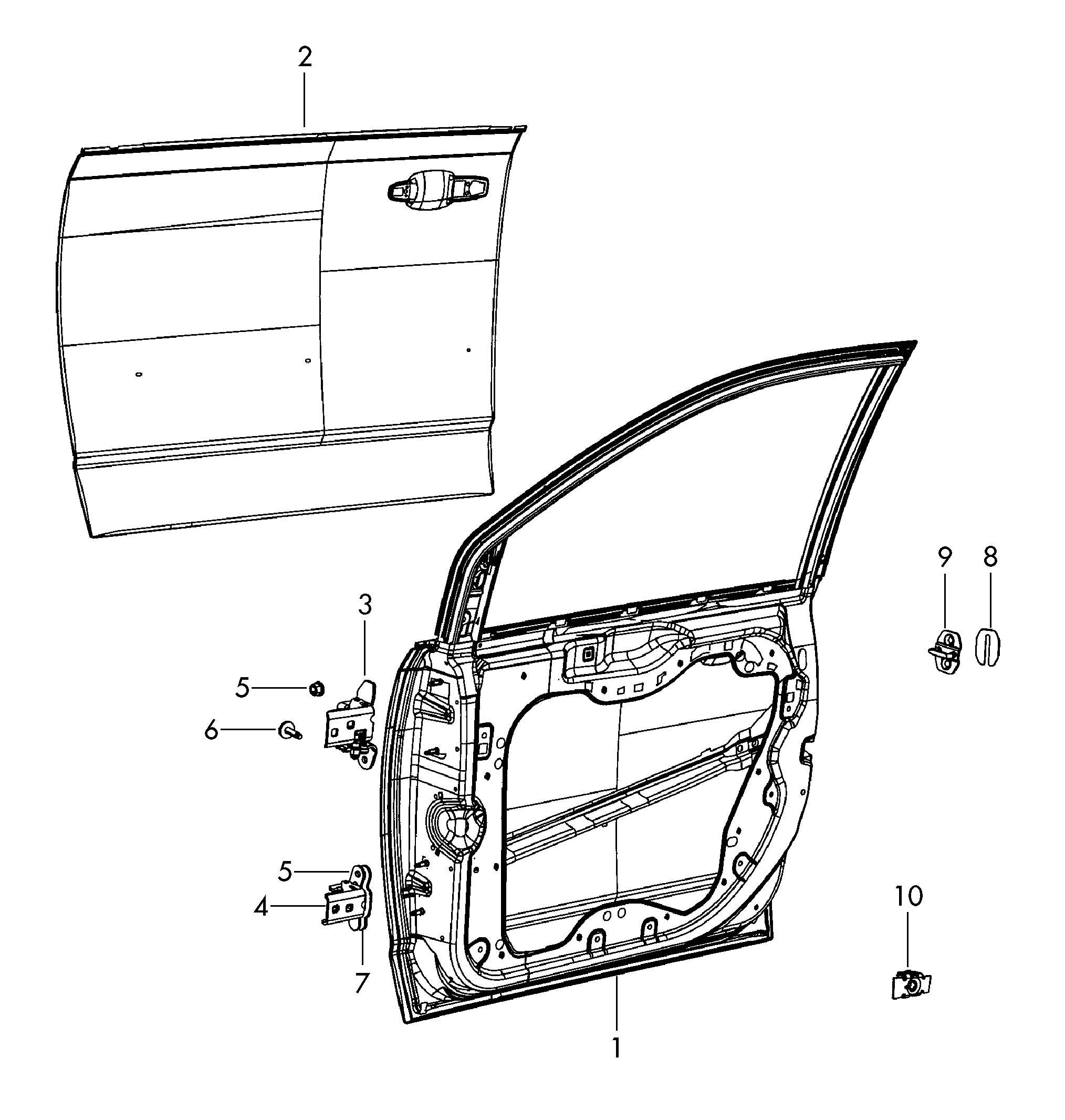 Volkswagen Routan Door Outer Skin Door Outer Panel Outer