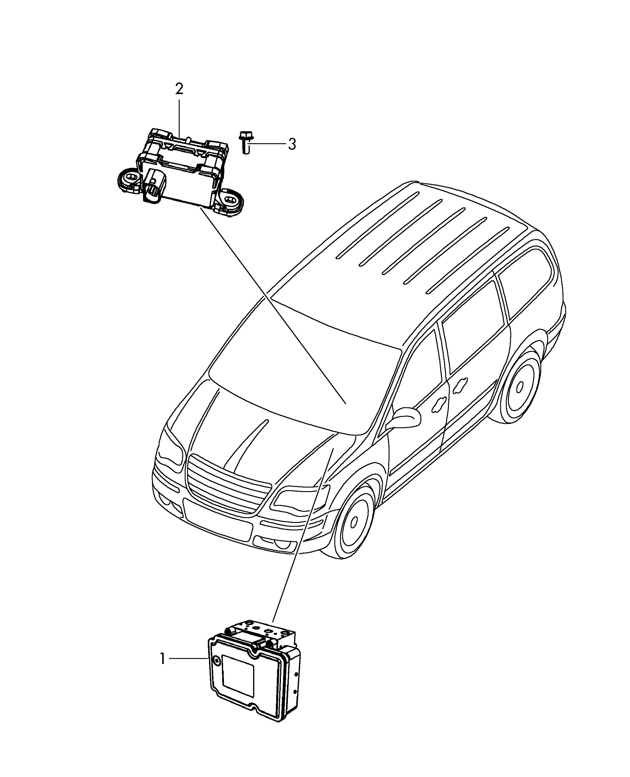 Volkswagen Routan Electronic Control Module Abs Einheit Electronic Stability Programme Esp