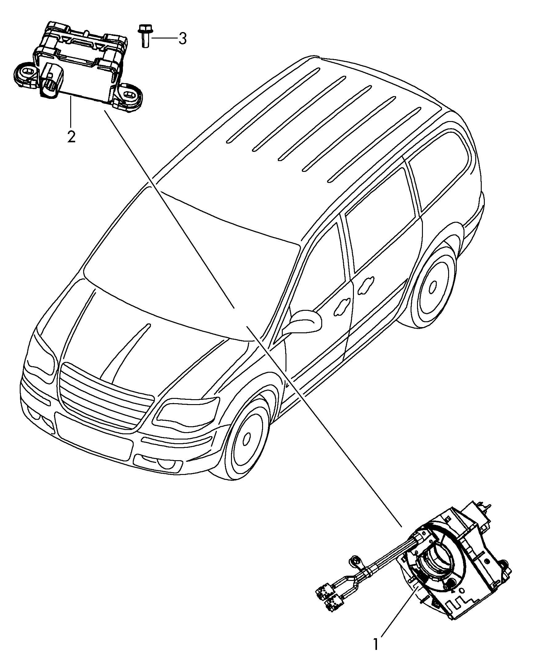 Volkswagen Routan Sensor For Lateral Impact Control Unit