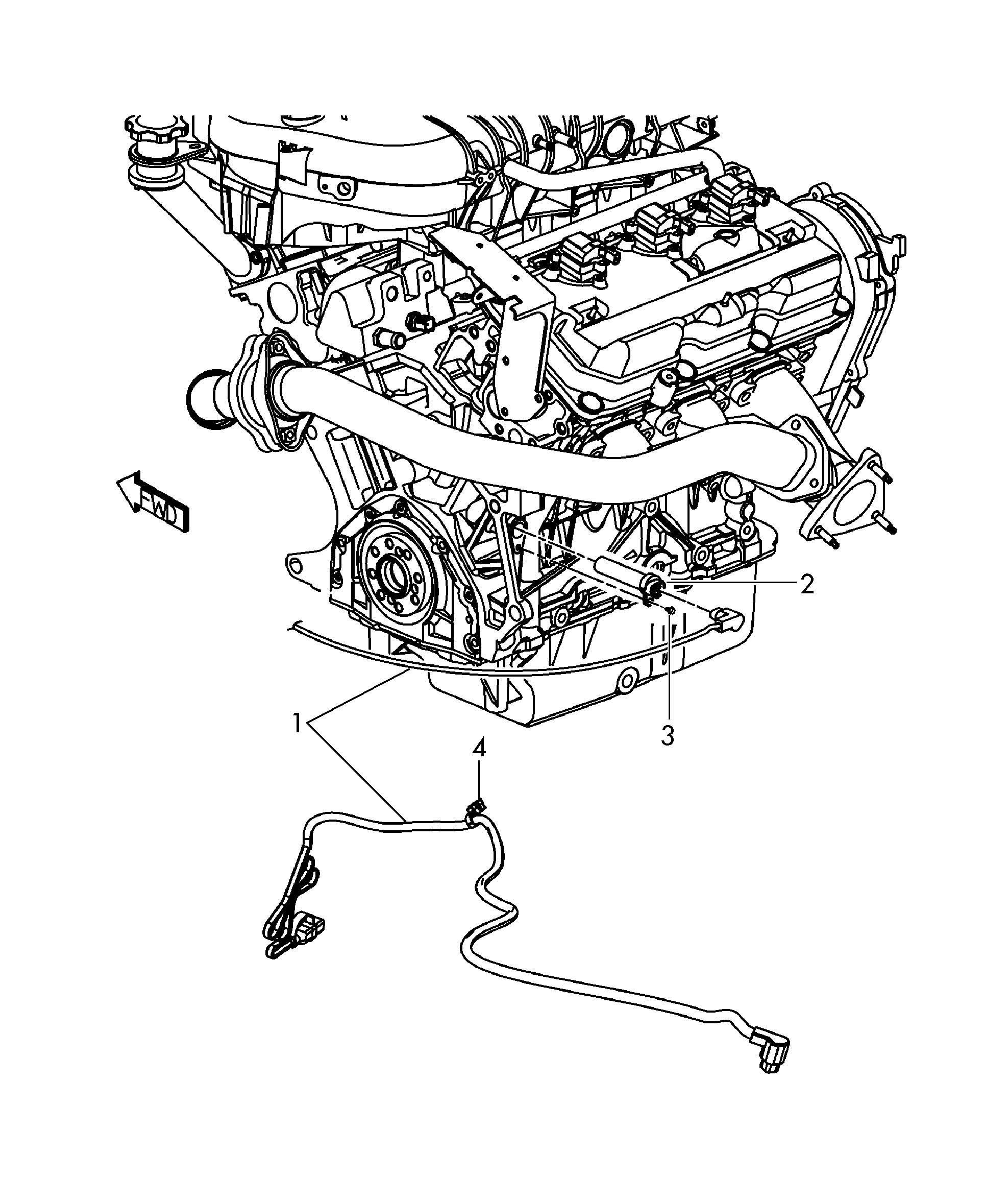 Volkswagen Routan Cord For Engine Block Heater Block