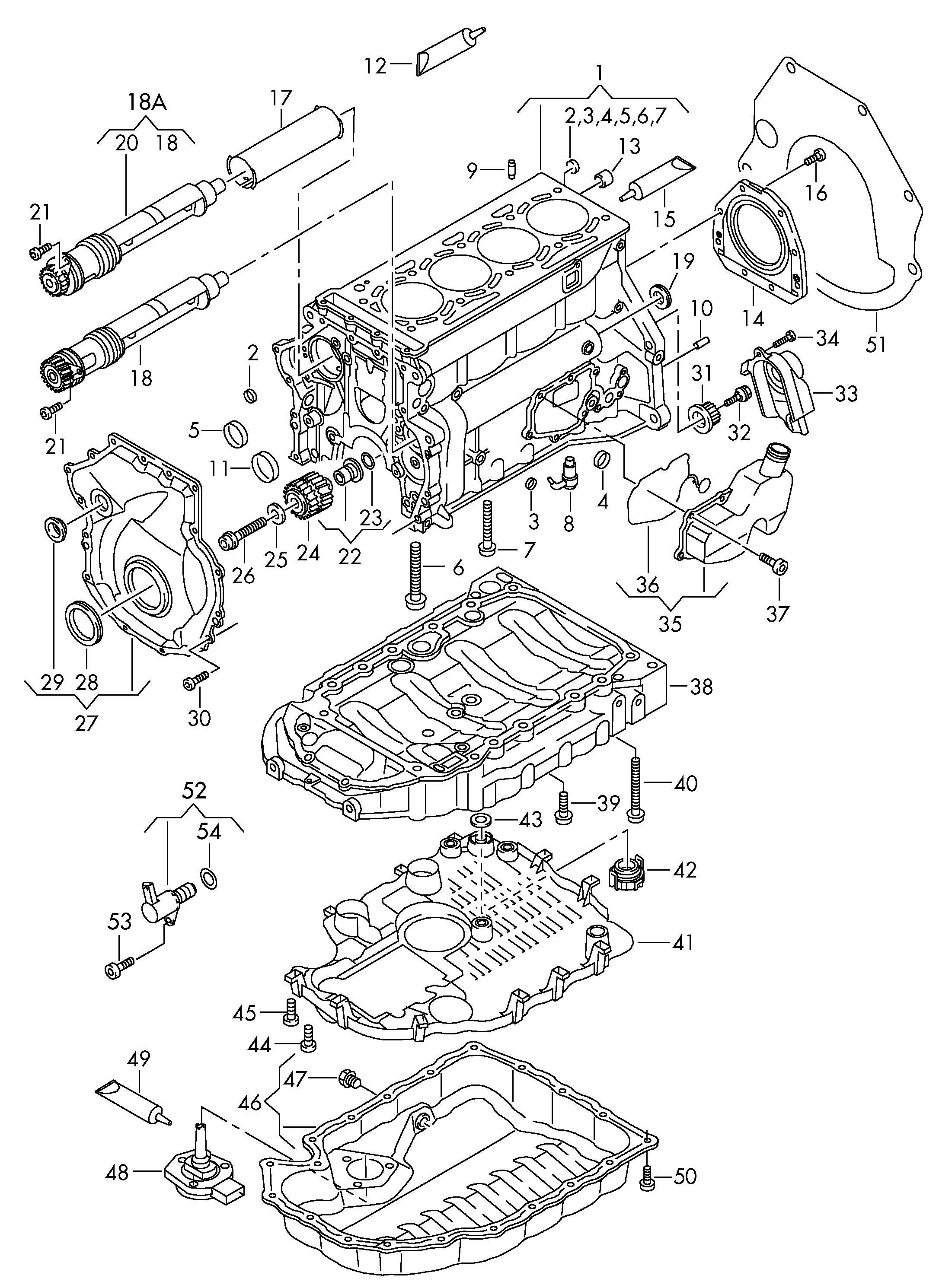 Volkswagen Tiguan 2 0l Sealing Flange Activating