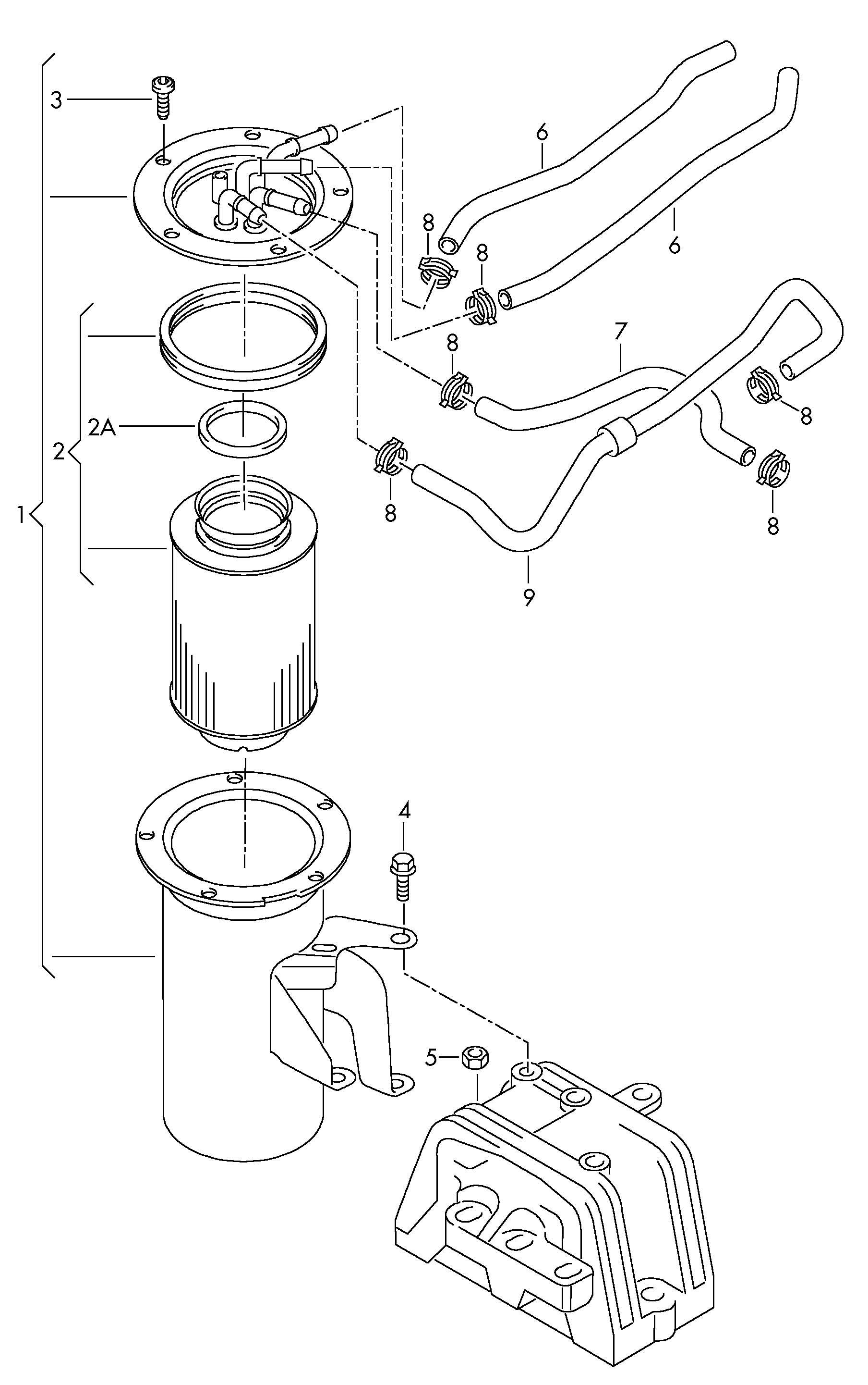 Volkswagen Jetta Fuel Line Fuel Pipe