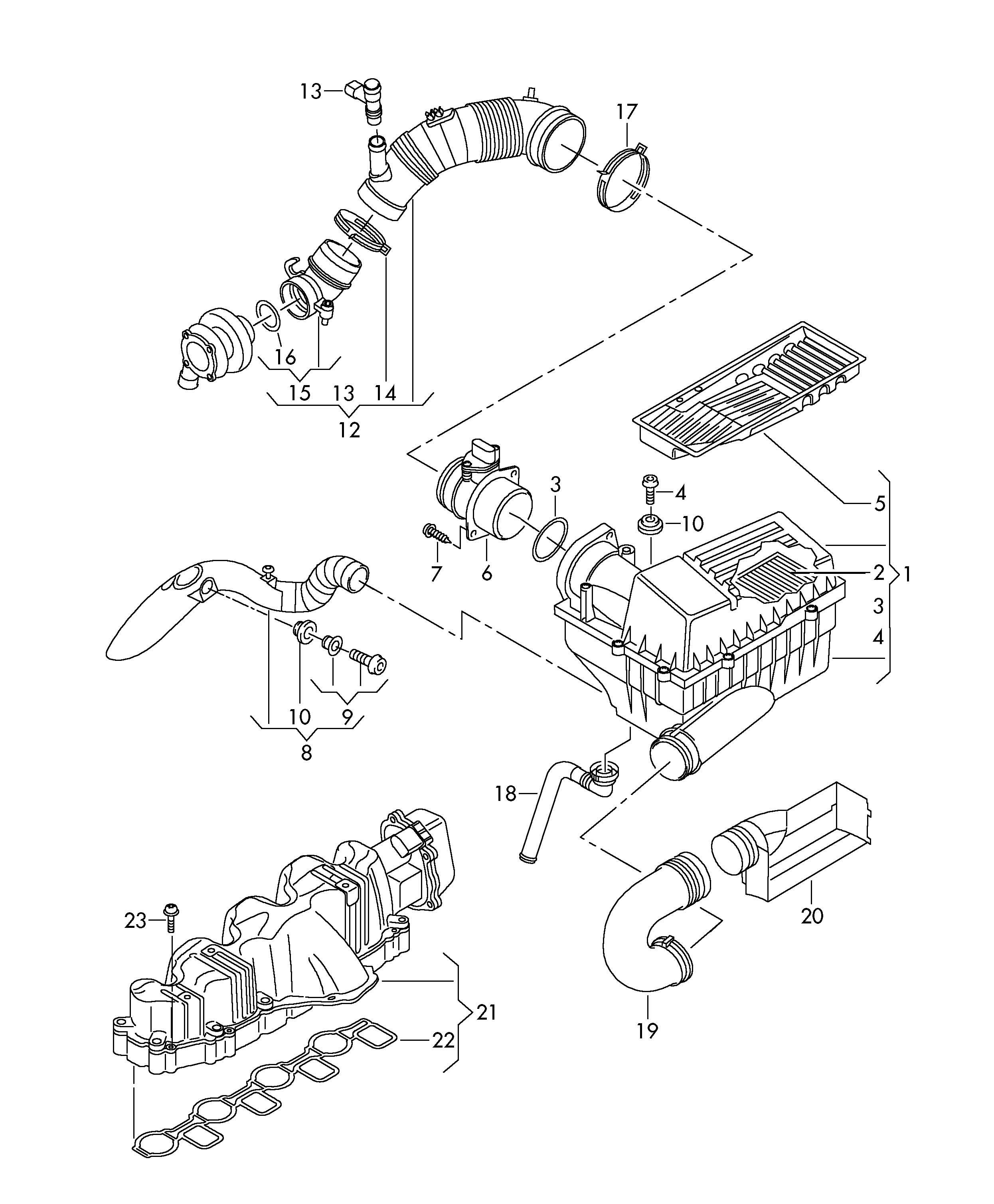 Volkswagen Golf Intake Manifold Cbab Cbaacbab Cbaa