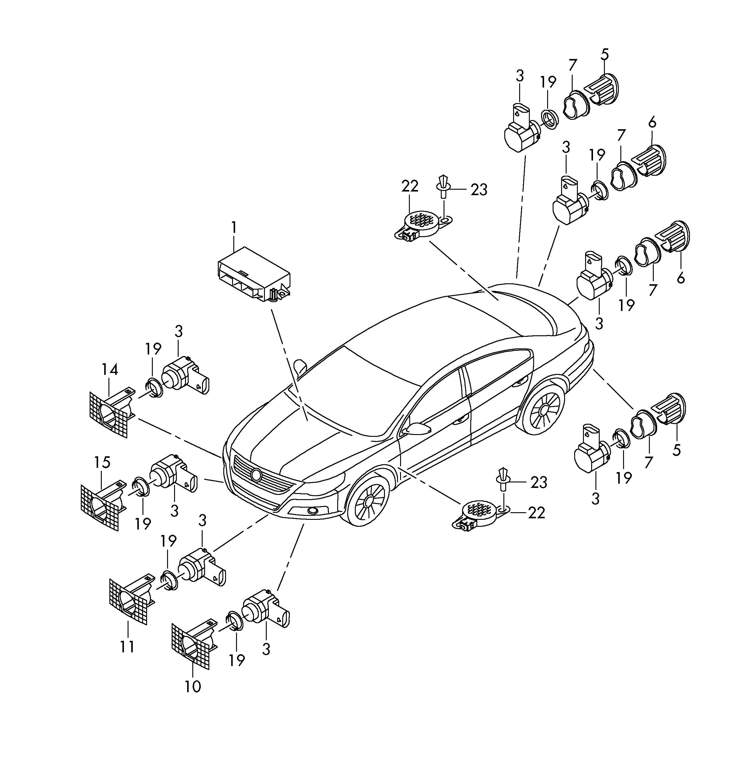 Volkswagen Passat Cc Control Unit For Park Assist Parking