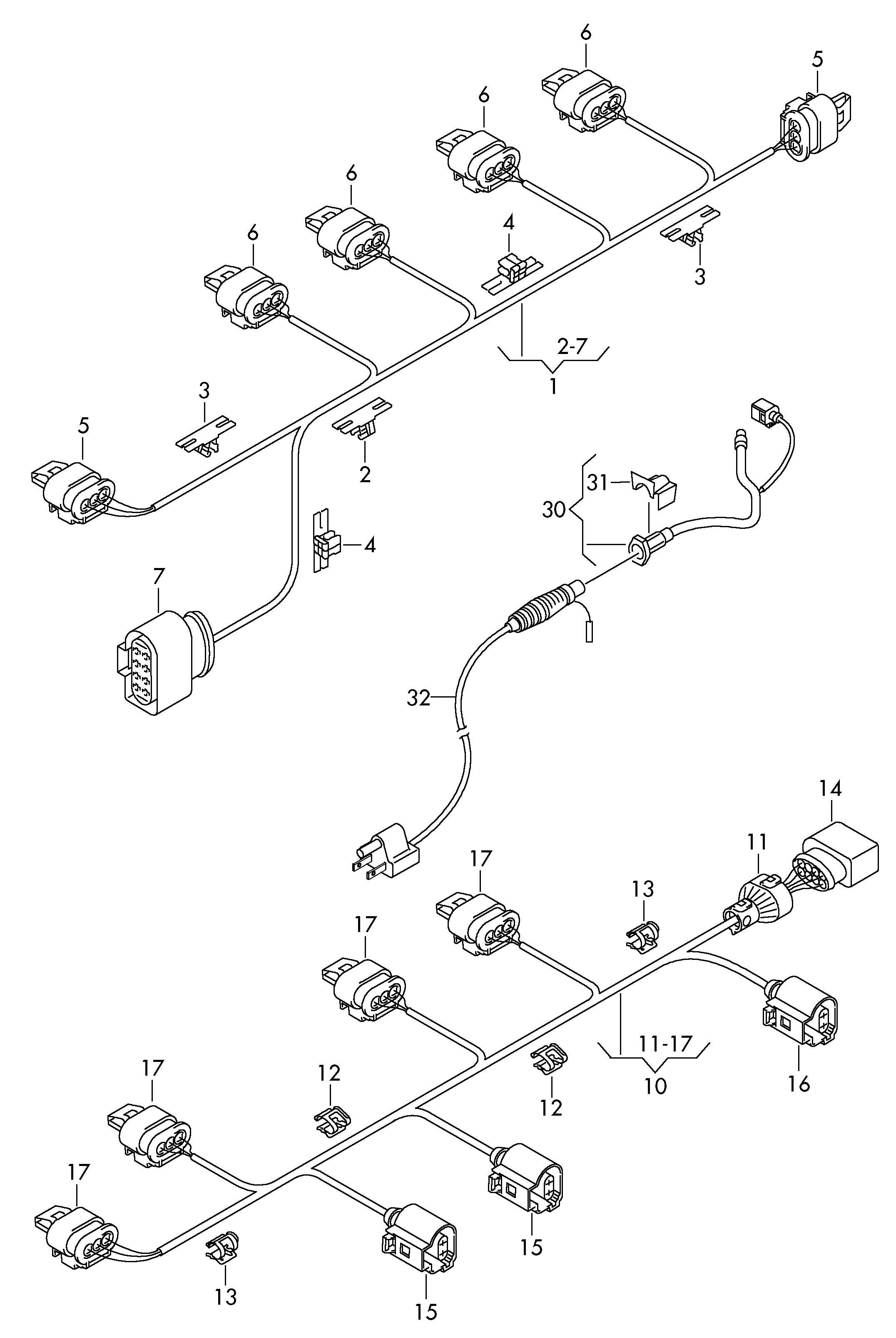 Volkswagen Gti Cord For Engine Block Adapter Wiring