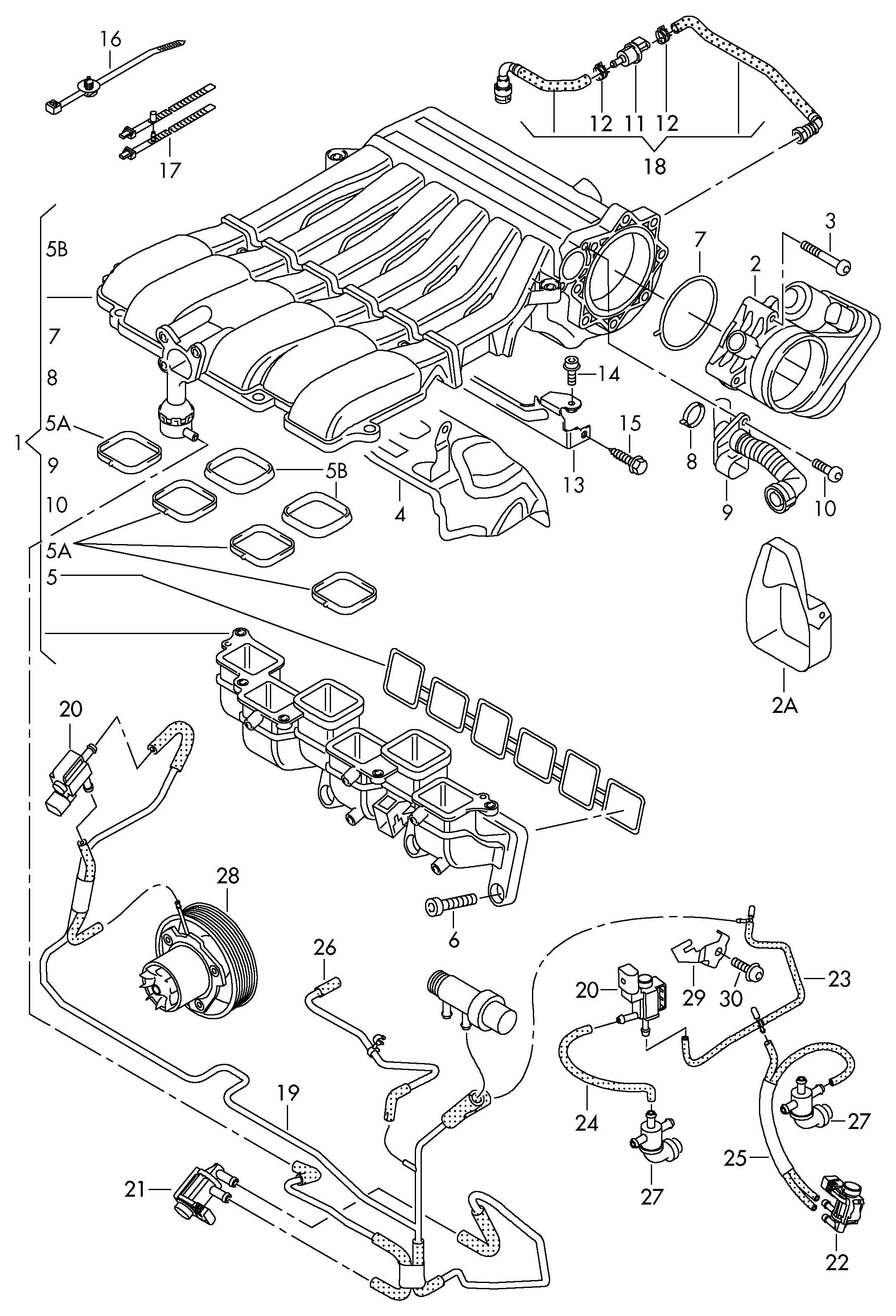 Volkswagen Touareg Vent Hose Breather Hose
