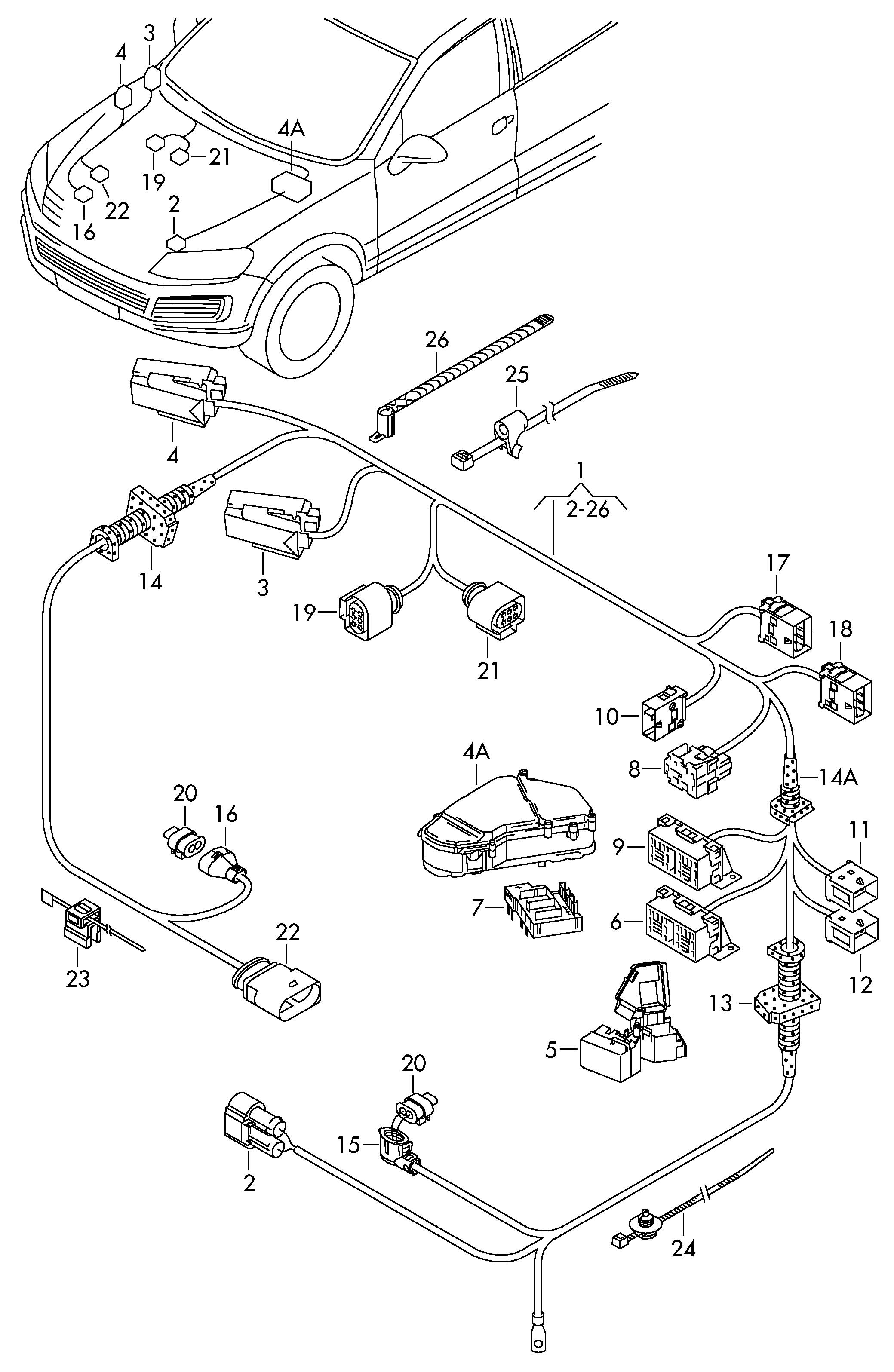 Volkswagen Touareg For Single Wiring Flat Contact Housing
