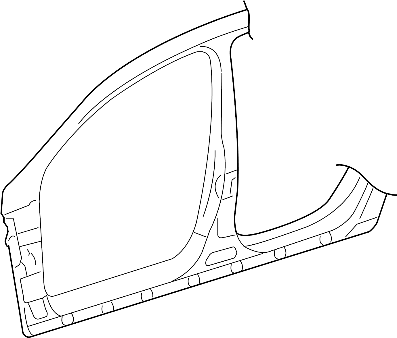 Volkswagen Passat Cc Sectional Part Side Panel Wheelhouse