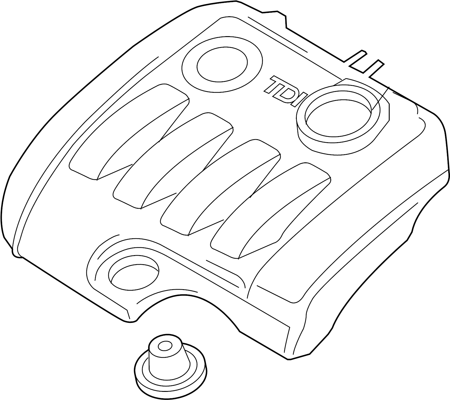 Volkswagen Jetta Cover For Intake Manifold 1 9ltr
