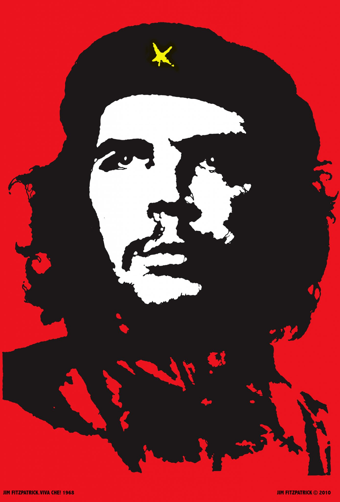 9d9c5c303cee Che Guevara VIVA CHE 1968! The original red and black Che Guevara poster  reproduced exactly as in 1968 from the original artwork.