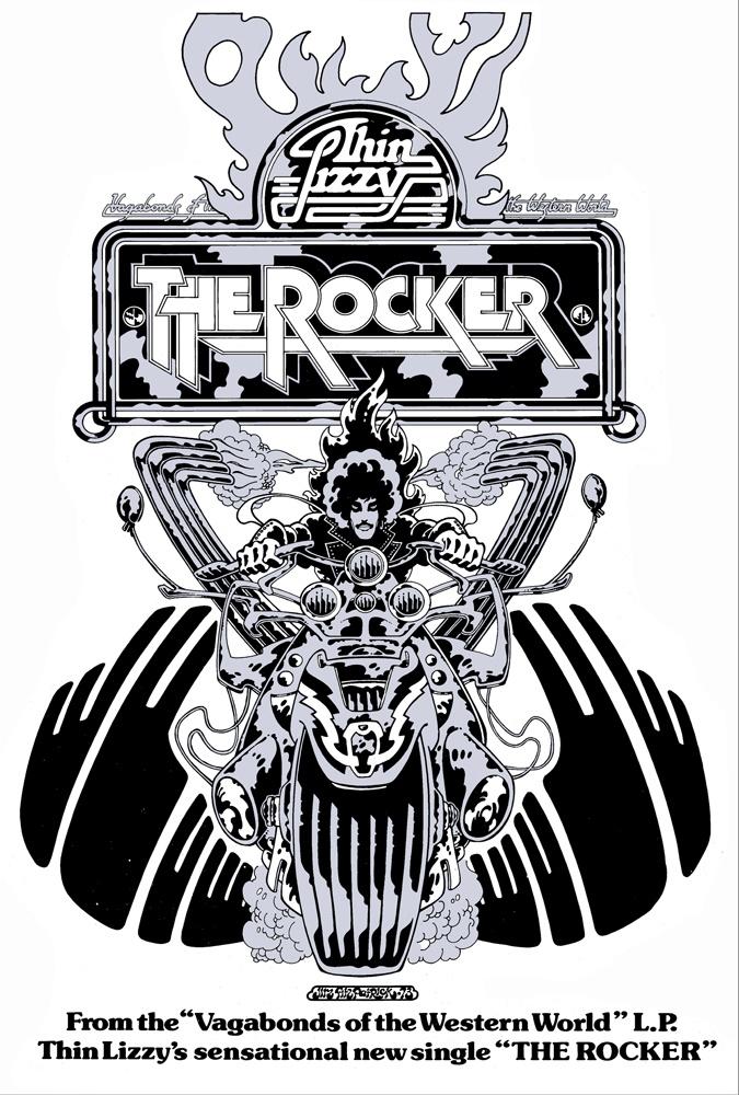 thin lizzy the rocker poster art | jim fitzpatrick