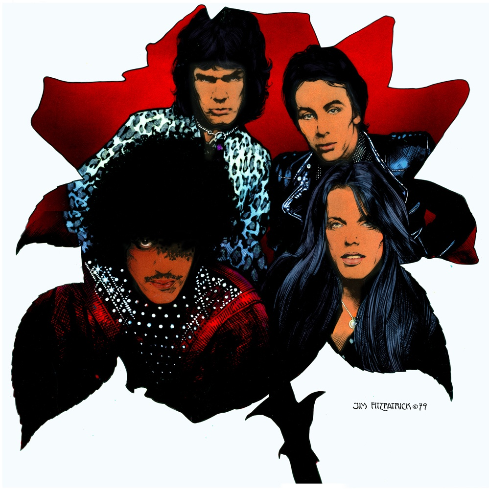 BLACK ROSE with back album cover | Jim FitzPatrick
