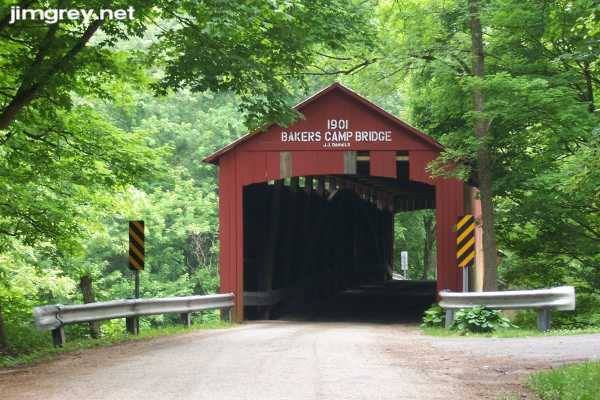 Covered bridge along old US 36 in Indiana