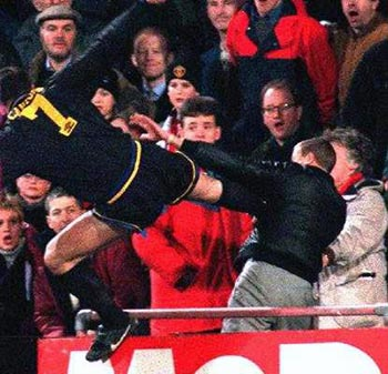 His name is matthew simmons and his life has been a nightmare since that incident. Eric Cantona The Target