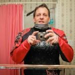 Motorcycle Ride to Work Selfie