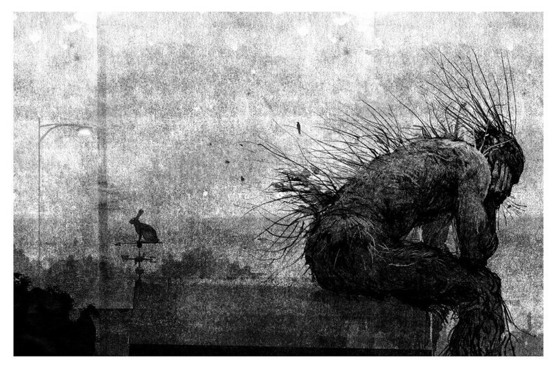 The Monster sitting down, from 'A Monster Calls'