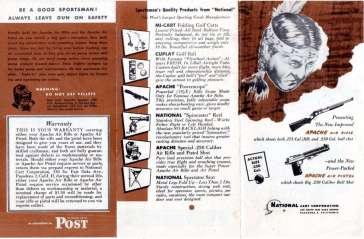 Apache air guns instruction leaflet.
