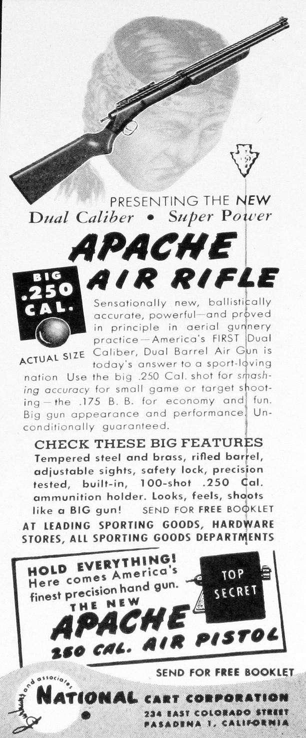 Apache airguns advertisement 1947.