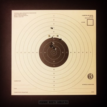 BSA Scorpion .22 Target Card