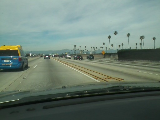 Harbor Freeway North towards Downtown LA