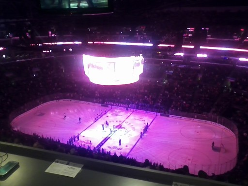 Staples Center Pressbox