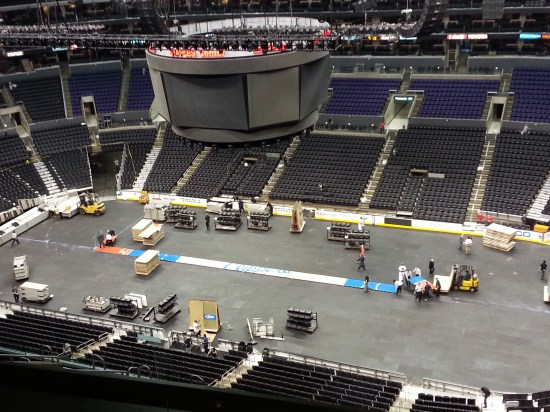 Staples Center Changeover