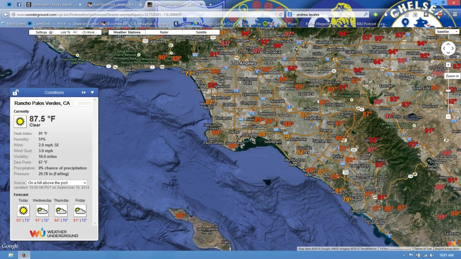 Screengrab of Weather Underground