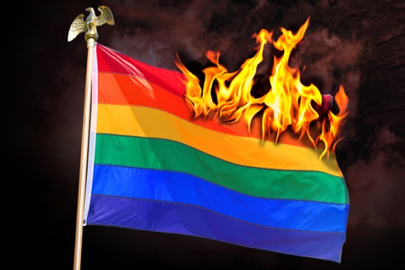 Burning Rainbow Flag