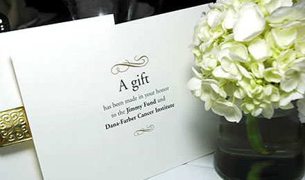Jimmy Fund Wedding And Party Favors