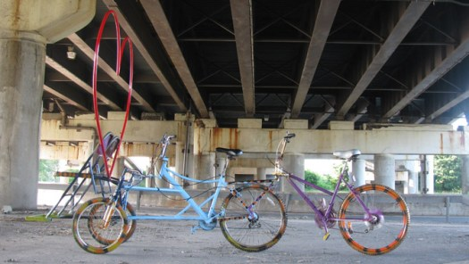 Custom bicycle fabricated at Sculpture Space in Utica, New York