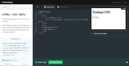 codecademy-html-css