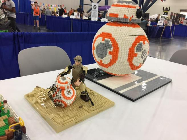 Lego Rey and BB8