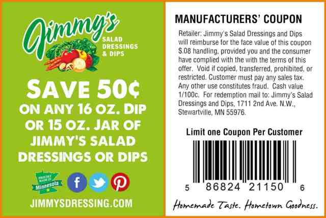 Jimmy's 50Cent Website Coupon